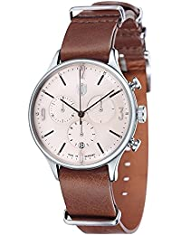 Dufa Deutsche Uhrenfabrik Unisex-Armbanduhr Chronograph Quarz Leder Van Der Rohe Chrono DF-9002-06