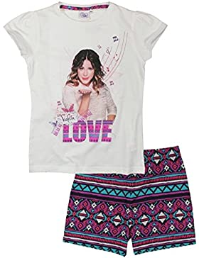 Violetta Pyjama Shorty Schlafanzug Nachtwäsche Kurz