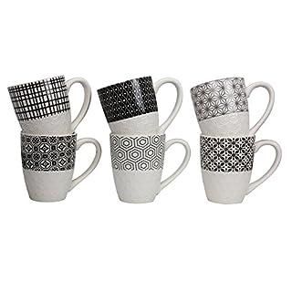 Ard'Time EC-6KOMUG Keramik Porzellan Tassen, 11,7x 7,8x 9,8cm, 280 ml,mehrfarbig, 6 Stück