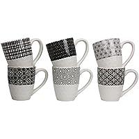 Ard'time EC-6KOMUG Komae Lot de 6 Mugs en porcelaine Céramique Multicolore 11,7 x 7,8 x 9,8 cm 310 ml