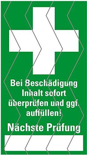 LEMAX® Aufkleber Sicherheitssiegel Erste Hilfe Folie selbstklebend 25 x 45 mm, 12/Bogen (Verbandskasten, Sicherheitssiegel) praxisbewährt