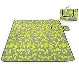SKYSPER 200 x 200 cm Couvertures Tapis de Pique-Nique Imperméable Résistant à l'humidité Grand Format Pliable pour Camping Voyage Plage Jardin Nappe (Pliable en Sac)