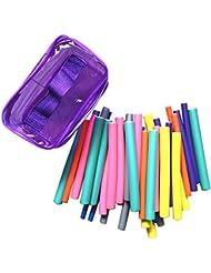 Sasairy 42 Stücke Haar Lockenwickler Flexibel DIY Werkzeug für lockiges Haar Styling-Werkzeug