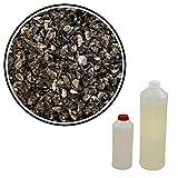 Steinteppich Grigio Carnico 4,8m² (50kg Marmorkies + 3kg Bindemittel) Epoxidharz Bindemittel, Steinboden, Kiesboden, Kieselboden