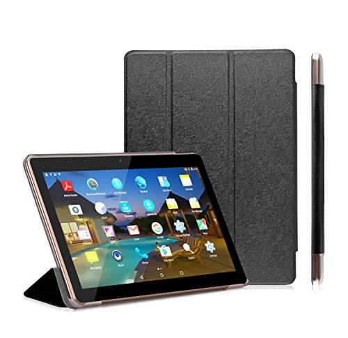 "LNMBBS Custodia in Pelle per tablet da 10,1 pollici - Chiusura Ultra Sottile in Pelle Sintetica, Fondello Trasparente in Acrilico per BEISTA 10 (10.1) pollici, Yuntab K107 / K17 Tablet 3g, Artizlee ATL-21T / ATL-21X / ATL-31 Tablet FHD (10.1""), Lnmbbs 3G/WIFI Tablet 10 Pollici, Cewaal 10 pollici, AnTeck 10 Phablet, ibowin P130 / M130 10.1 pollici Android Tablet - Nero"