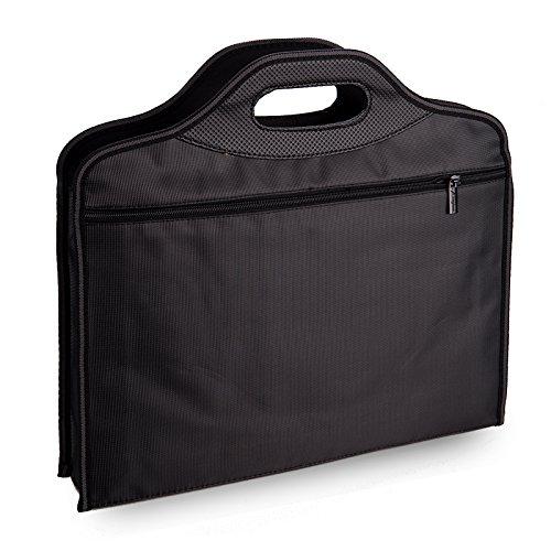 Professional Aktentasche Aktenmappe Aktentasche / Tablet Handtasche Manntasche mit Griff A4 Größe Schwarz Schultasche College Satchel Portable Bag Business