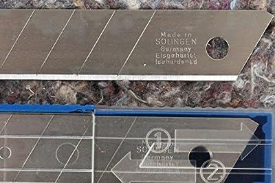 18 mm PREMIUM Cutter Messer Ersatz Abbrech Klingen MADE IN GERMANY Cuttermesser Messerklingen für Teppich & Stanley Messer