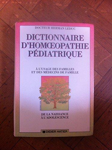 Dictionnaire d'homéopathie pédiatrique