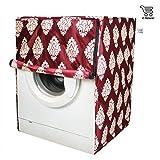 #9: E-Retailer Classic Maroon Flower Design Front Loading Washing Machine Cover (Suitable For 6 kg, 6.5 kg, 7 kg, 7.5 kg)