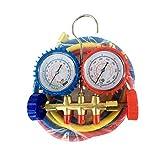 Metro de refrigeración del indicador digital del acero inoxidable de la tabla del fluoruro del aire acondicionado automotriz con la válvula doble del indicador