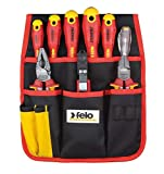 Felo 41399504Werkzeugtasche mit 9, rot und schwarz