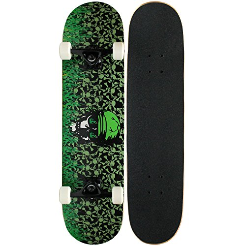 KPC Pro Skateboard, komplett, KPC-302, Green Flame