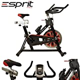 ELEV-8 Spin Excerise Bike Fitness Cardio Workout Weight Loss Machine BLACK/RED