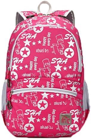 OHmais Unisexe Sac à dos de ran ée Sac de cours Cartable à style sac de lycée en toile Idéal pour les jeune éudients | Boutique En Ligne