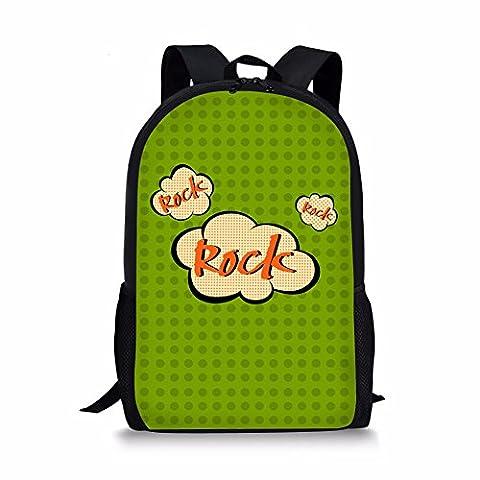 CHAQLIN Cartable vert rock