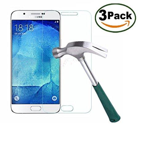 Vada-Tech | 3x bruchsicheres Panzerglas für Samsung Galaxy J7 2016 | Schutzfolie aus 9H Echtglas | Schutzglas zur Vermeidung von Displayschaden | blasenfreie Anbringung | 3 Stück…