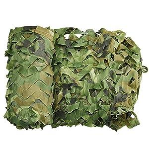 Wilxaw Tarnnetz 3 X 6M, Dauerhaft Armeegrün Tarnnetz Sichtschutz, Wald Camping Jagd Schatten Abdeckung Armee…