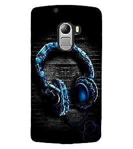 ColourCraft Unique Headphone Design Back Case Cover for LENOVO VIBE X3 LITE
