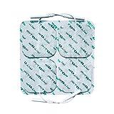 FITOP 44 Stück 50X50mm Quadratisches Elektroden Pad für TENS-Einheit mit Langlebigem Gel (11...