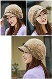 #10: DELHI TRADERSS Women's Winter Woolen Flat Caps (Khaki)