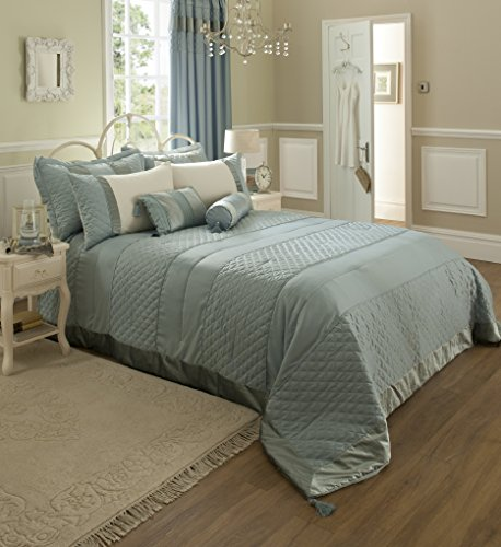 Catherine Lansfield Classique Super King Quilt Set, Duck Egg