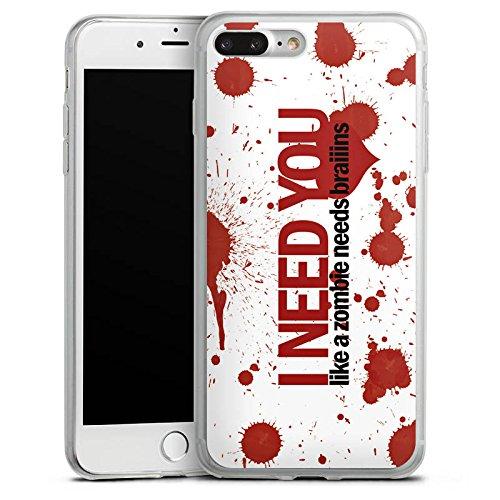 Apple iPhone 8 Slim Case Silikon Hülle Schutzhülle Love Zombie Sprüche Muster Silikon Slim Case transparent