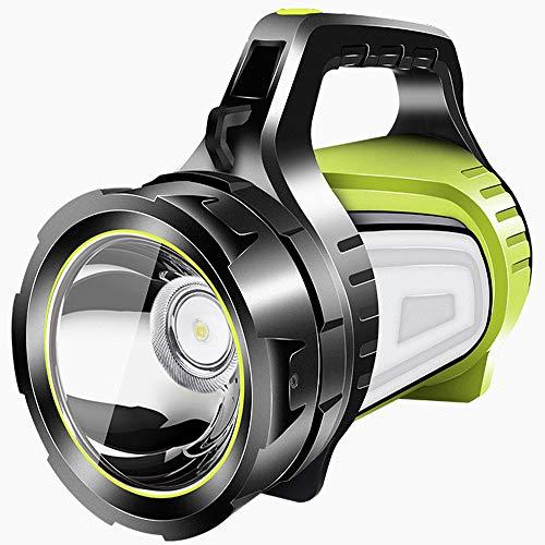 WWAVV Wiederaufladbarer Tragbarer Handscheinwerfer des Led-Scheinwerfers, Kampierendes Licht, Bewegliche Energiehochleistung Superhell Taschenlampe Scheinwerfer Scheinwerfer