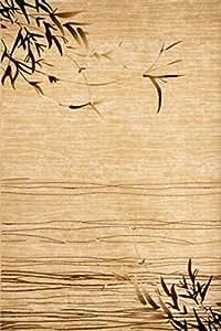 Lalee Ein Tag am See! Moderner, beiger Flachflor-Teppich, Farbe Beige, Größe 80cm x 150cm, 06593-80-150