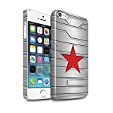 STUFF4 Glanz Snap-On Hülle / Case für Apple iPhone 5/5S / Winter Soldier Inspiriert Muster / Antiheld Comic-Kunst Kollektion
