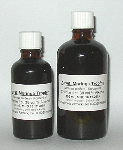100ml Moringa Extrakt, Moringa Oleifera Tropfen, Konzentrat (Blatt Frei Von Alkohol-extrakt)