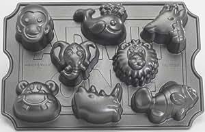 """Nordic Ware - Moule à gâteau """"animaux du zoo"""" - Platine"""