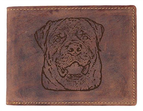 Greenburry Geldbörse mit Hunde Motiv Rottweiler (Rottweiler Geldbörse)