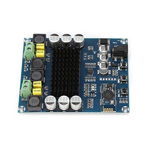 Audioverstärker,TPA3116D2 Wireless Bluetooth 4.0 Dual Channel Audio Receiver DIY Kits 120W + 120W DC 12V-24V Digital Audio-Verstärkerplatine Verstärker Module mit Acrylgehäuse und anderem Zubehör