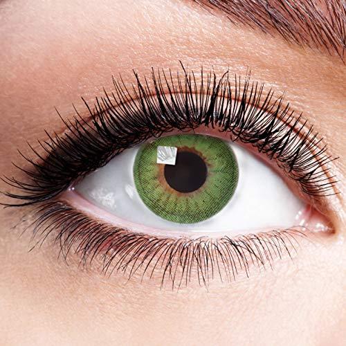 Farbige Kontaktlinsen Grün Ohne Stärke Weiche Natürliche Grüne Jahreslinsen Linsen Farblinsen 0 Dioptrien Natürlich 1 jahr Green Fire