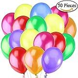 Jonami 50 Luftballons Bunt Helium - Ballon Bunte Latex Premiumqualität Ø ca. 30 cm / 12' Partyballon Bunte 3,2 g Deko / Dekoration fur Geburstags