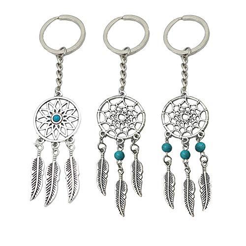 (Traumfänger Schlüsselanhänger, Yuccer Hamsa Hand von Fatima und Türkisch Böses Auge Schlüsselbund Anhänger für Damen Geldbörse Handtasche Deko)