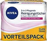 NIVEA 2er Pack Abschminktücher, 2 x 25 Stück, Pflegende Reinigungstücher