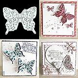 BINGHONG3 BingongongG3 Ausstechformen aus Metall, Motiv Schmetterling, für Scrapbooking, Album, Stempel, Papier, Karten, Dekoration,