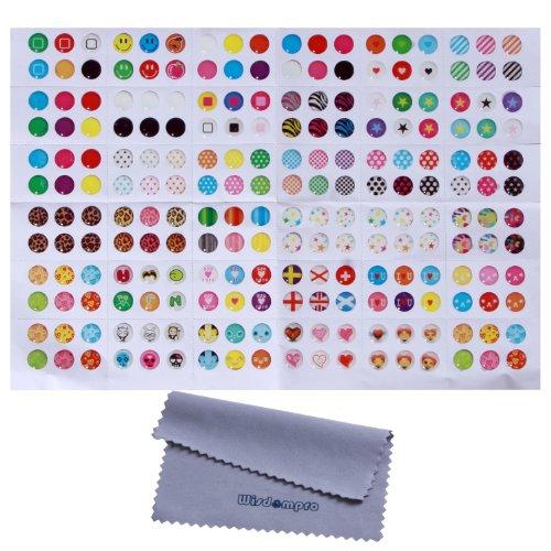 Wisdompro Home-Button-Aufkleber- 216coole Optionen- Pünktchen, bunte Blasen, Emojis (Sticker Home Für Ipod 4)