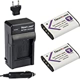 2-Pack of NP-BY1 Batteries and Battery Charger for Sony HDR-AZ1 Action Camera