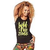 Zumba Fitness Damen Wild About Zumba Burnout Bubble Tank Frauentops, Back To Black, XS/S