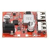 Modulo Step-Down, Convertitore Buck DC-DC Doppia Porta USB, Modulo Alimentazione Stabilizzato in Tensione 6-40V a 5V 3A