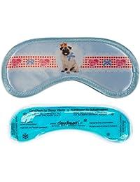 Daydream M-3043 Pet - Antifaz para dormir con compresa de frío (19x9cm, poliéster, algodón y poliamida), diseño de perro carlino