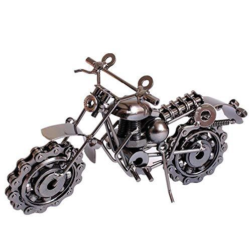 Lindou Harz-Skulptur Metall Handwerk Ornamente Heim Schmuck Eisen Motorradmodell Schreibtisch Ornamente