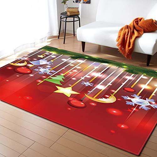 Hsrg rug tappeti natalizi antiscivolo/morbido / assorbente dipinto indoormat tavolo computer soggiorno kid room tappetino coperta comodino,#2,120x160cm