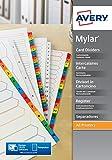 Avery extra breite Register Multilochung A4 farbige Mylar-Reiter 1-12 weiß