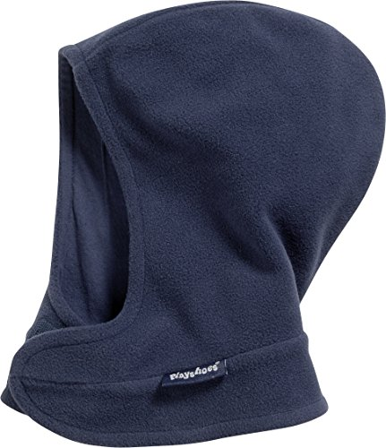 Playshoes Unisex Sturmhaube Schlupfmütze, Schalmütze aus Fleece mit Klettverschluß, Blau (Marine 11), Medium (Herstellergröße: 51/53cm)
