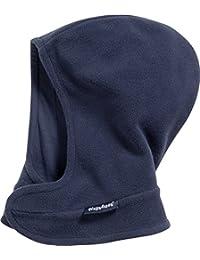 Playshoes Unisex Sturmhaube Schlupfmütze, Schalmütze aus Fleece mit Klettverschluß