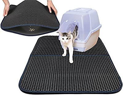 "niceeshop(TM) Cat Litter Mat Honeycomb Super Size Rectangular 29.5"" X 21.65"" with Waterproof Base Layer"