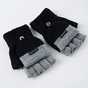 Unbekannt XIAOYAN Handschuhe Kind-Handschuhe warme Winter-Baby-Fäustlinge für 4-9 Jahre alt Bequem